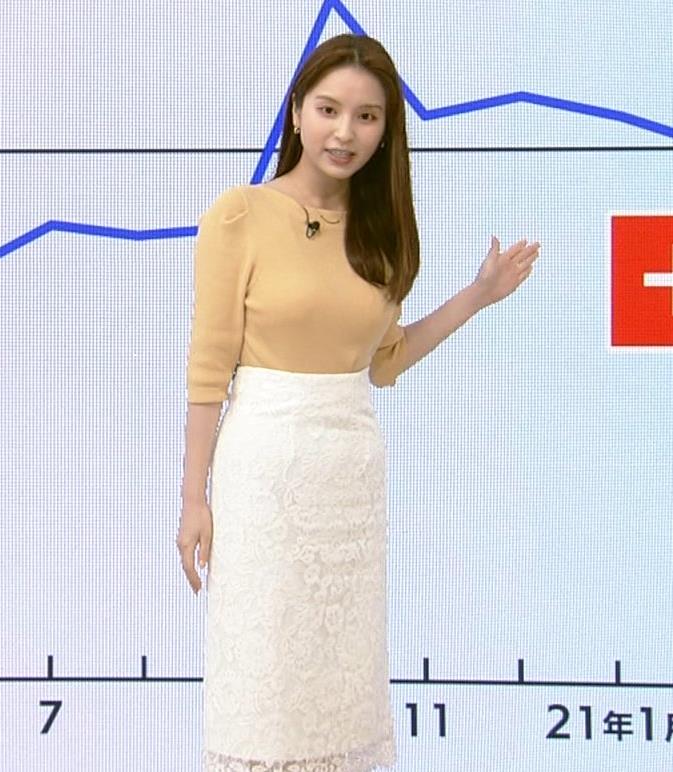 角谷暁子アナ ニット横乳がすごいことになってるキャプ・エロ画像4