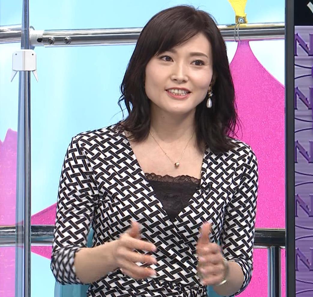 金子恵美 胸がエロい柄のワンピースキャプ・エロ画像3