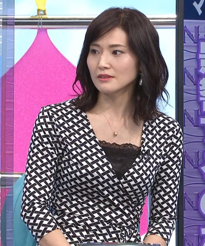 金子恵美 胸がエロい柄のワンピースキャプ・エロ画像5
