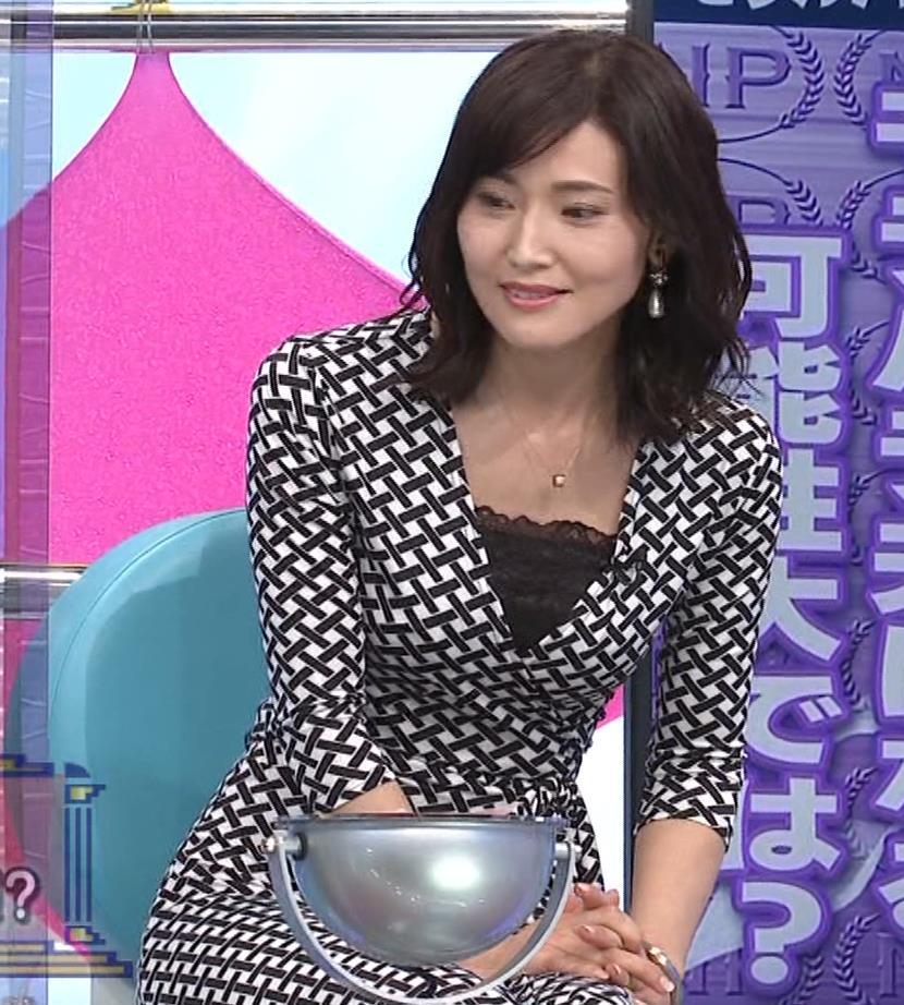 金子恵美 胸がエロい柄のワンピースキャプ・エロ画像8