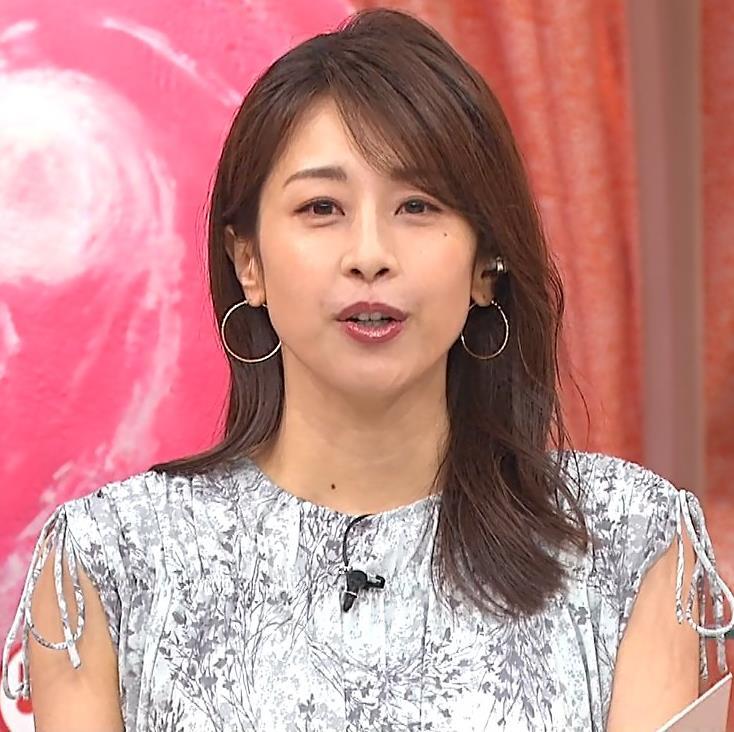 加藤綾子 ワンピースの横乳キャプ・エロ画像