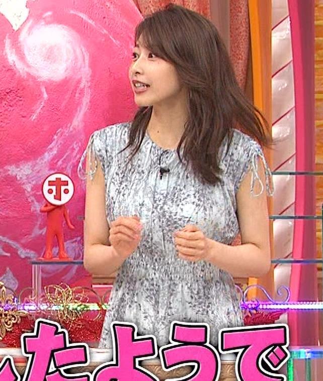 加藤綾子 胸の大きさがちょっと強調されたワンピースキャプ・エロ画像12