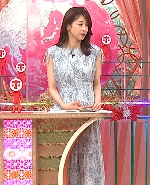 加藤綾子 胸の大きさがちょっと強調されたワンピースキャプ・エロ画像5
