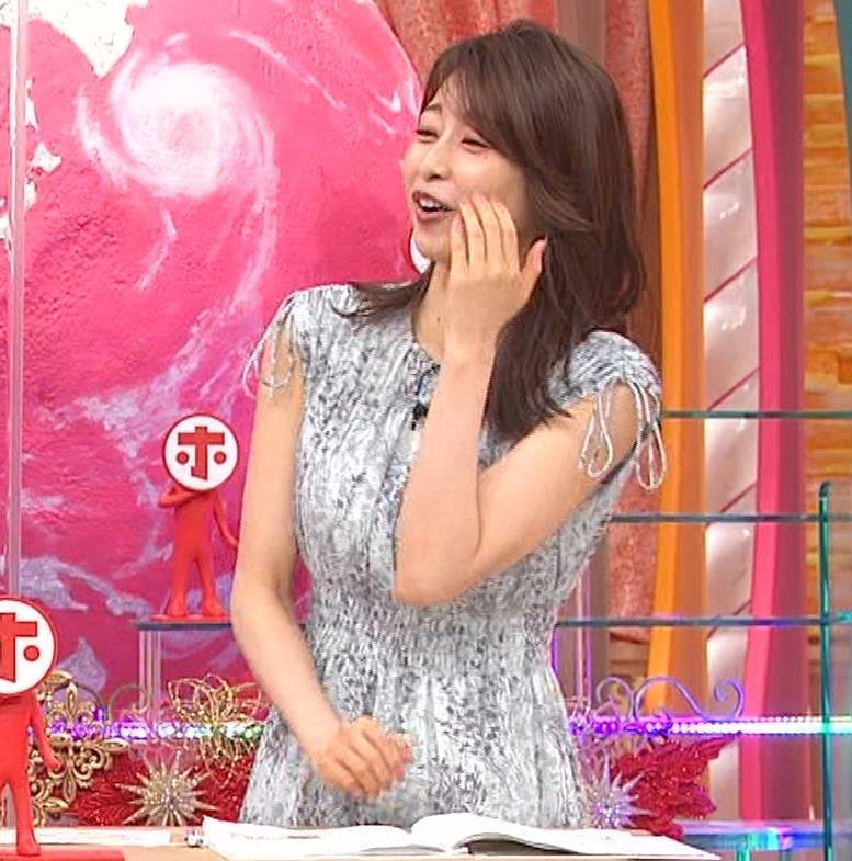 加藤綾子 胸の大きさがちょっと強調されたワンピースキャプ・エロ画像9