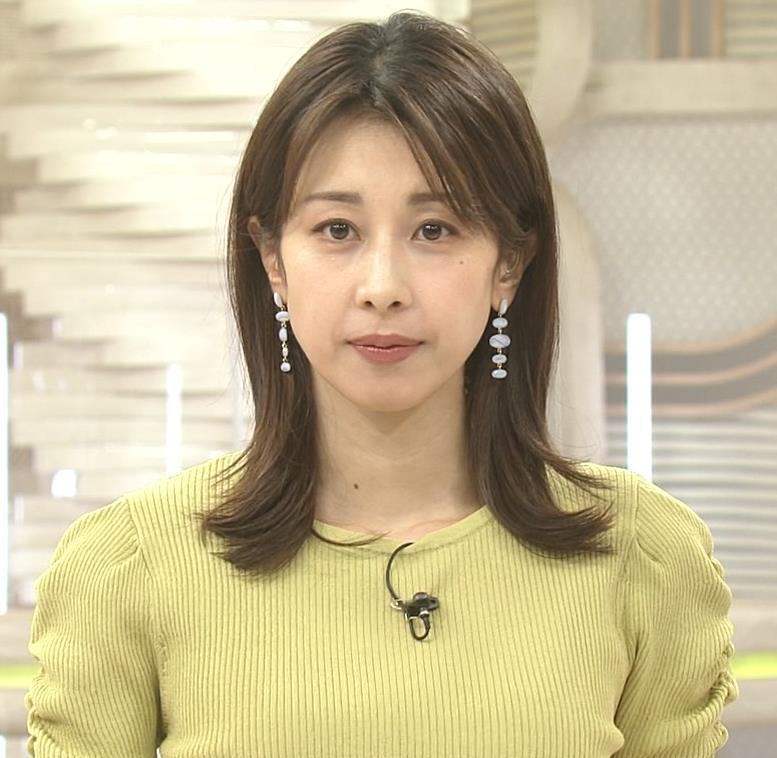 加藤綾子 スタイルがいい黄緑のワンピース姿キャプ・エロ画像