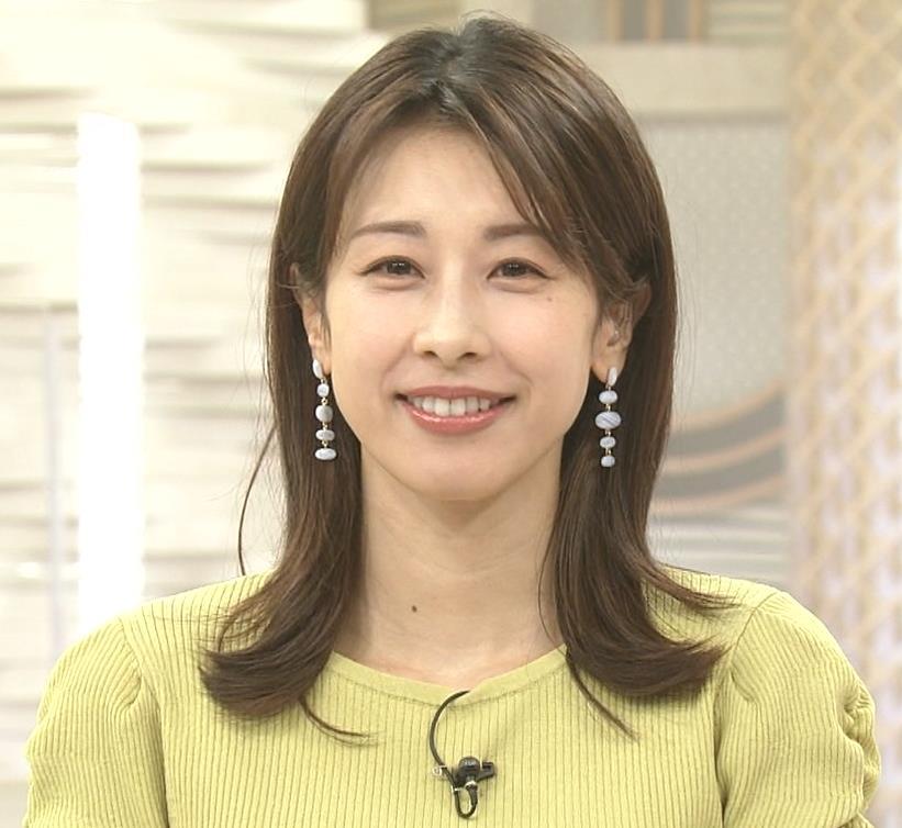 加藤綾子 スタイルがいい黄緑のワンピース姿キャプ・エロ画像2