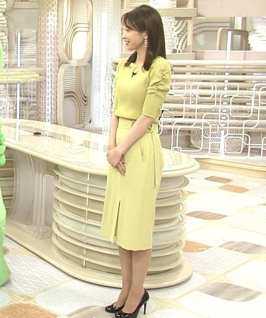 加藤綾子 スタイルがいい黄緑のワンピース姿キャプ・エロ画像3