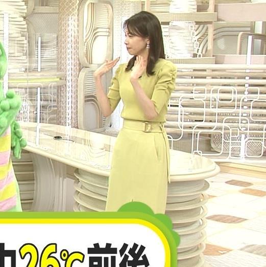 加藤綾子 スタイルがいい黄緑のワンピース姿キャプ・エロ画像4