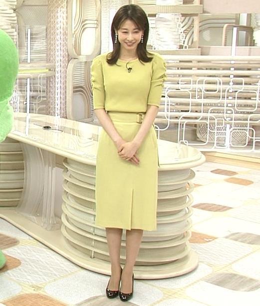 加藤綾子 スタイルがいい黄緑のワンピース姿キャプ・エロ画像5