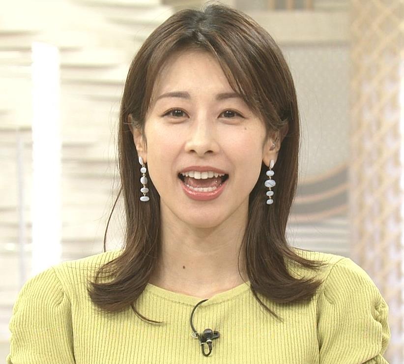 加藤綾子 スタイルがいい黄緑のワンピース姿キャプ・エロ画像6