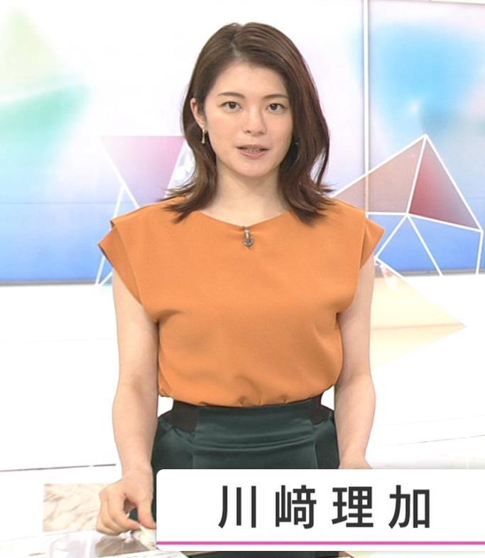 川﨑理加アナ 巨乳横乳キャプ・エロ画像