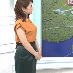 川﨑理加アナ 巨乳横乳