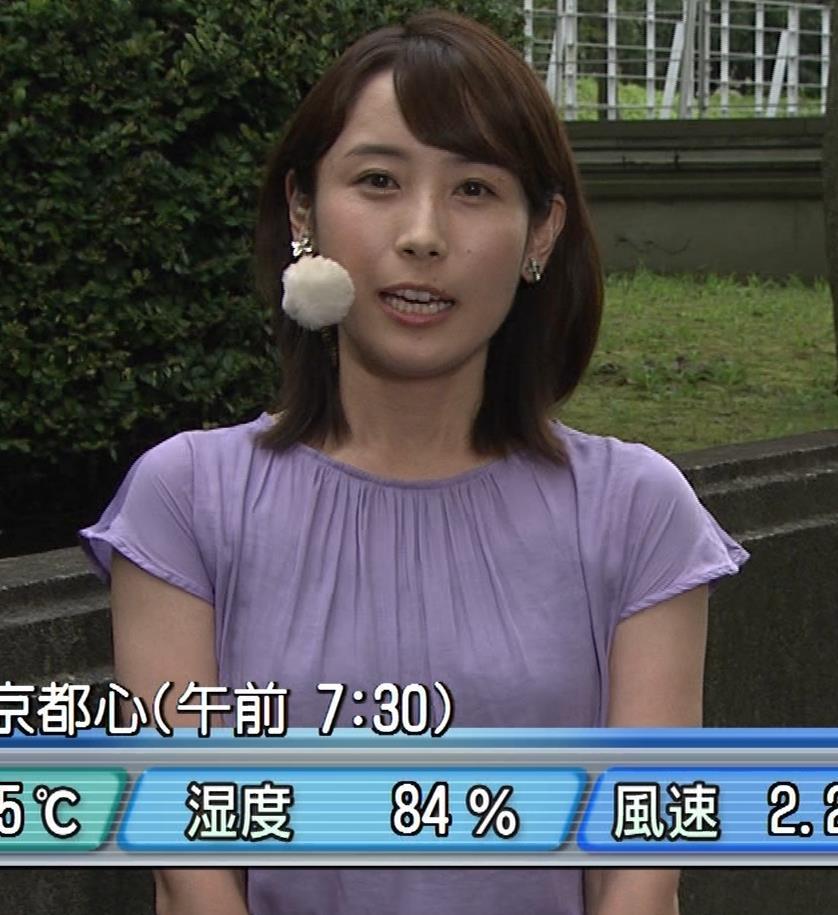 エロいTシャツ横乳(美人気象予報士)キャプ・エロ画像