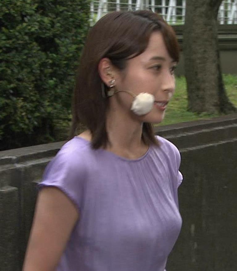 エロいTシャツ横乳(美人気象予報士)キャプ・エロ画像2