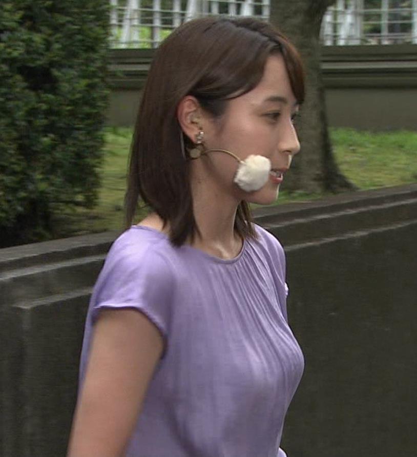 エロいTシャツ横乳(美人気象予報士)キャプ・エロ画像3