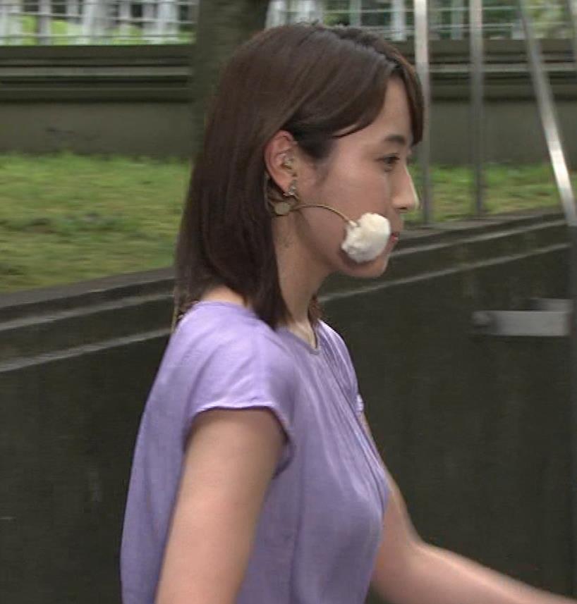 エロいTシャツ横乳(美人気象予報士)キャプ・エロ画像5