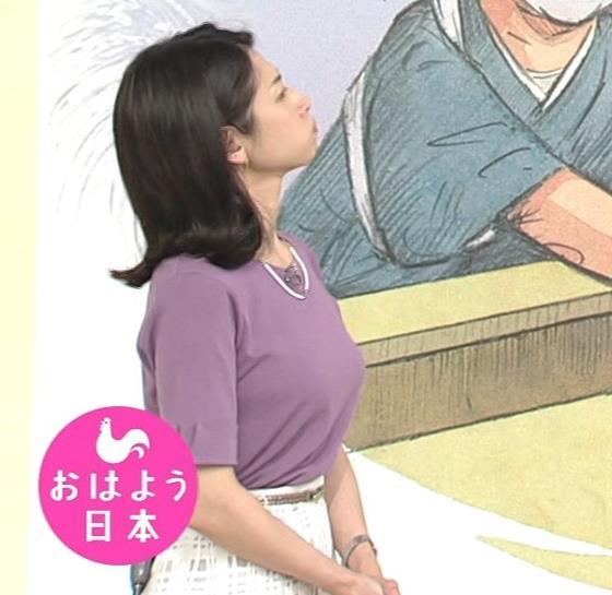 桑子真帆アナ おっぱいが主張していたよキャプ・エロ画像3