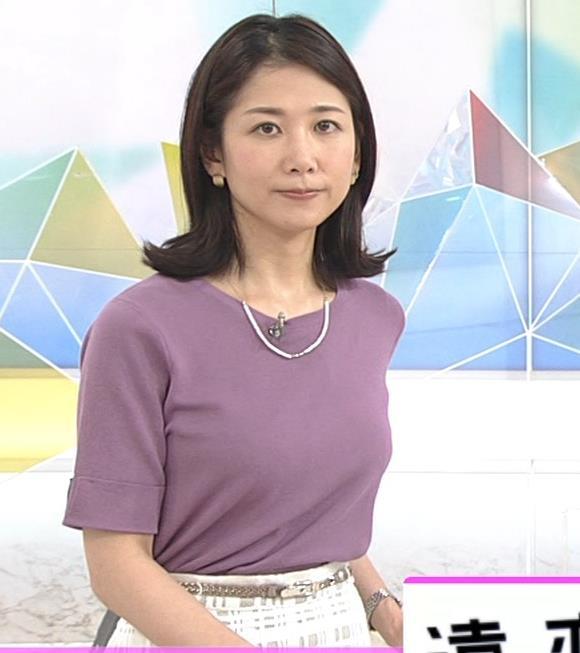 桑子真帆アナ おっぱいが主張していたよキャプ・エロ画像4