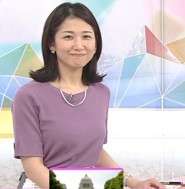桑子真帆アナ おっぱいが主張していたよキャプ・エロ画像6