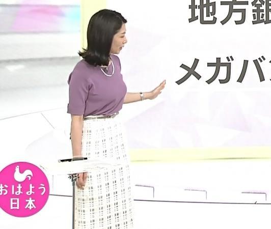 桑子真帆アナ おっぱいが主張していたよキャプ・エロ画像7