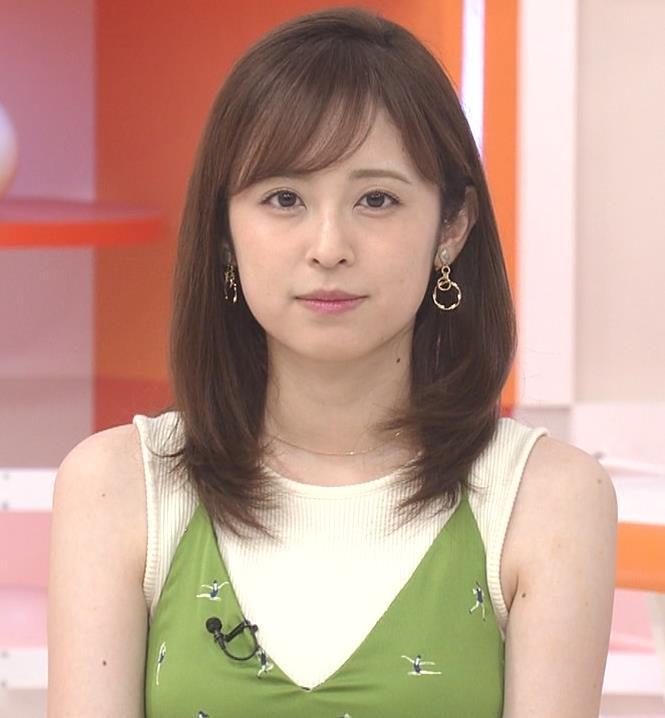 久慈暁子アナ ニットおっぱいをよりエロくする重ね着キャプ・エロ画像2