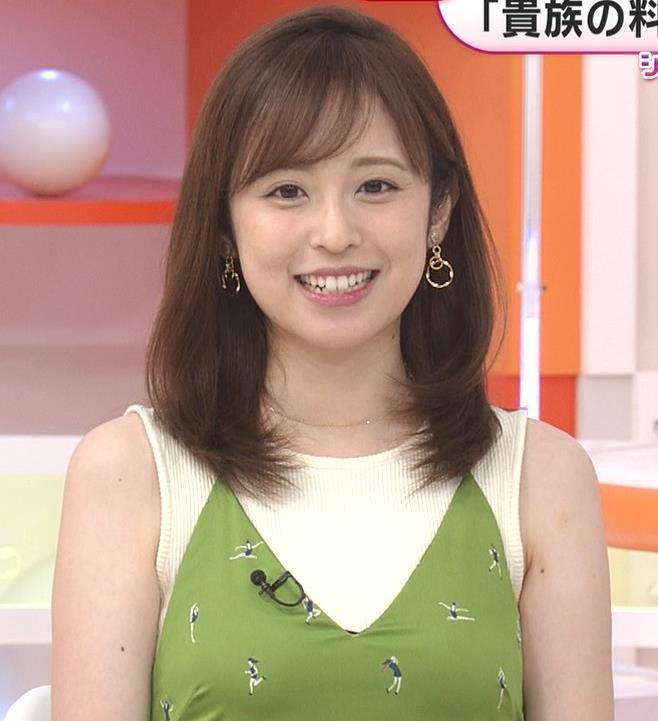 久慈暁子アナ ニットおっぱいをよりエロくする重ね着キャプ・エロ画像3