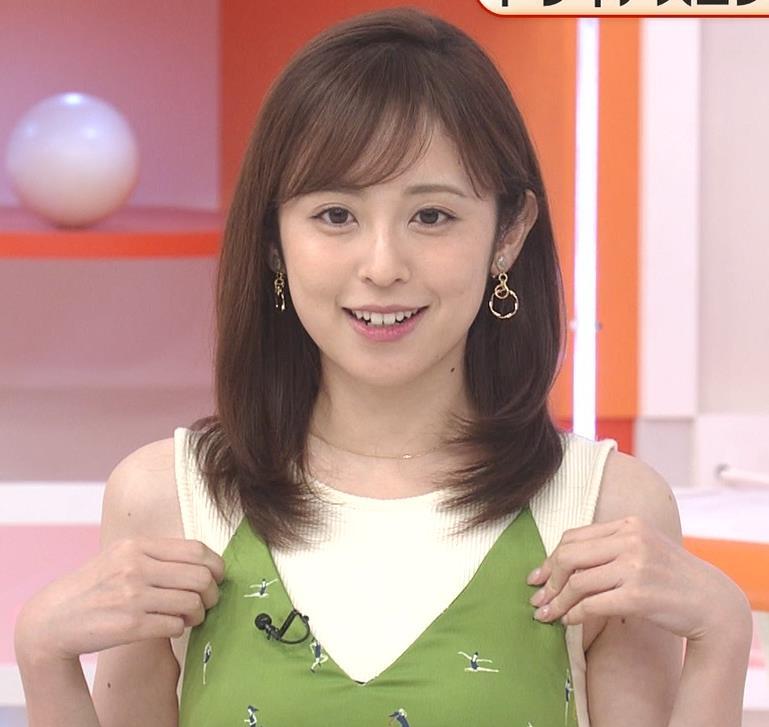 久慈暁子アナ ニットおっぱいをよりエロくする重ね着キャプ・エロ画像4