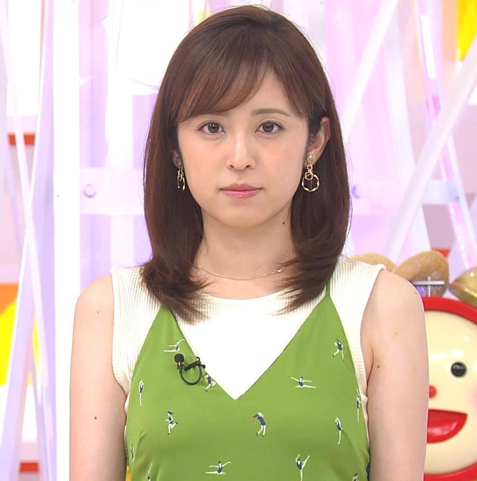 久慈暁子アナ ニットおっぱいをよりエロくする重ね着キャプ・エロ画像6