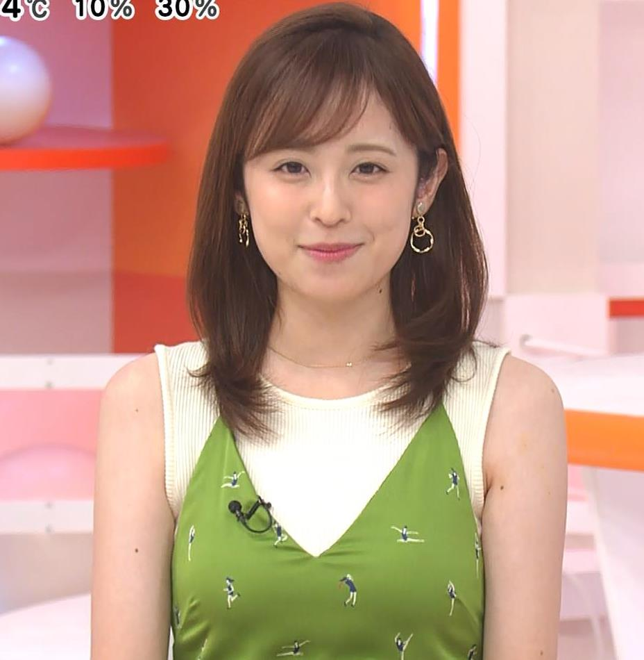 久慈暁子アナ ニットおっぱいをよりエロくする重ね着キャプ・エロ画像8