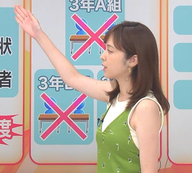 久慈暁子アナ ニットおっぱいをよりエロくする重ね着キャプ・エロ画像9
