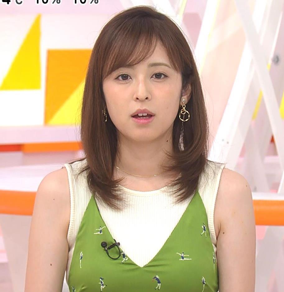 久慈暁子アナ ニットおっぱいをよりエロくする重ね着キャプ・エロ画像10