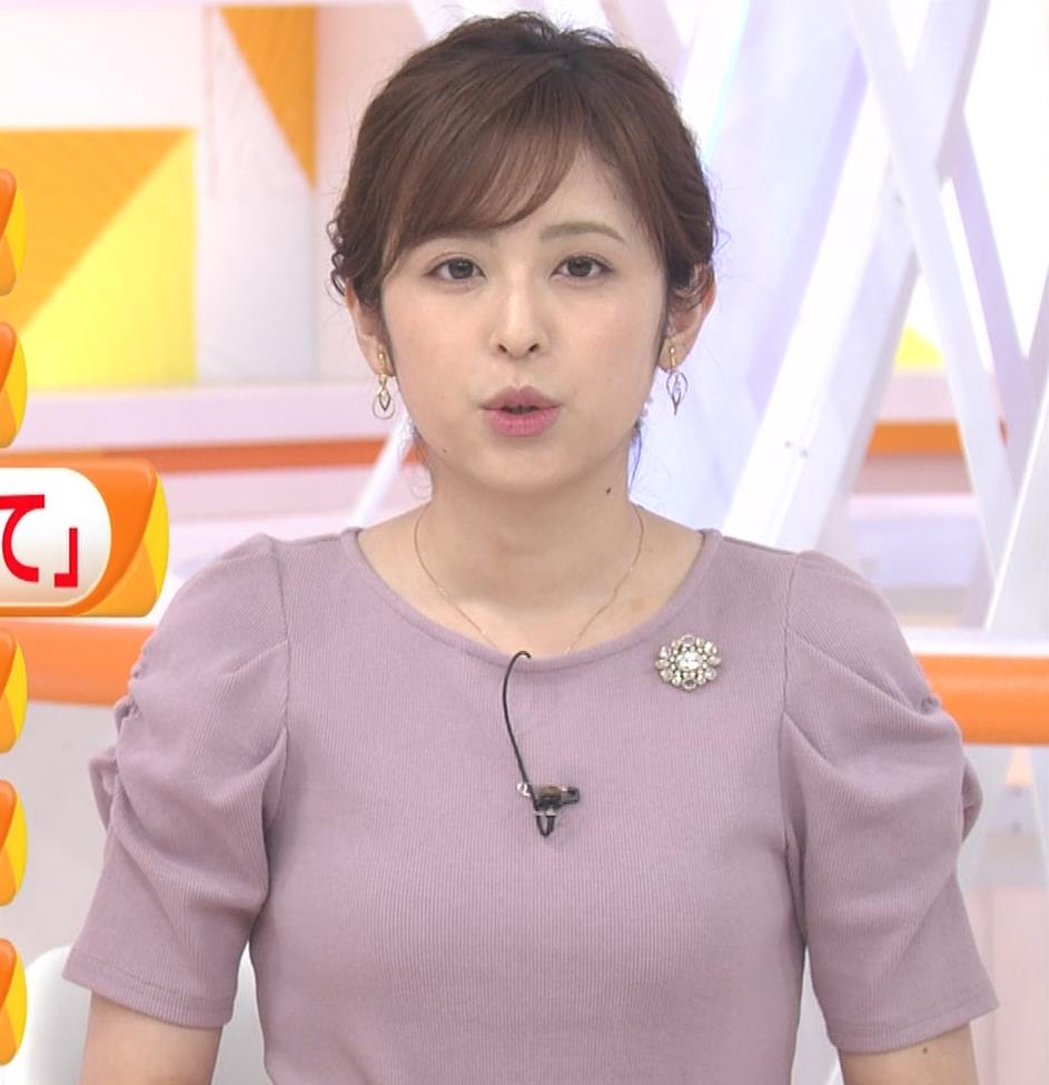 久慈暁子アナ かわいいお辞儀動画(ニットおっぱい)キャプ・エロ画像2