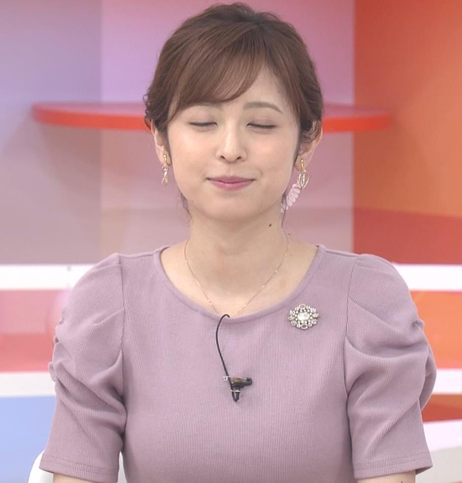 久慈暁子アナ かわいいお辞儀動画(ニットおっぱい)キャプ・エロ画像4