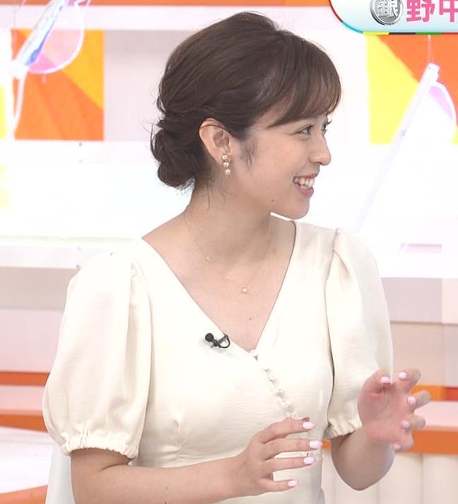 久慈暁子アナ 胸元開いた服がエロかわいいキャプ・エロ画像5
