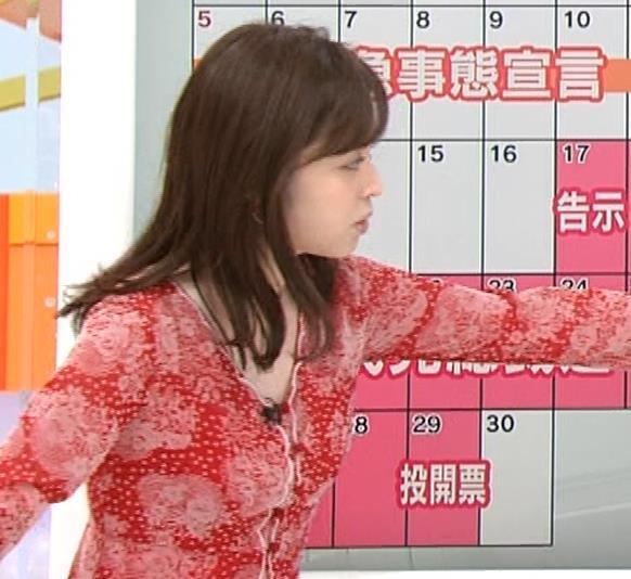 久慈暁子アナ 胸のふくらみがエロいタイトなワンピースキャプ・エロ画像5