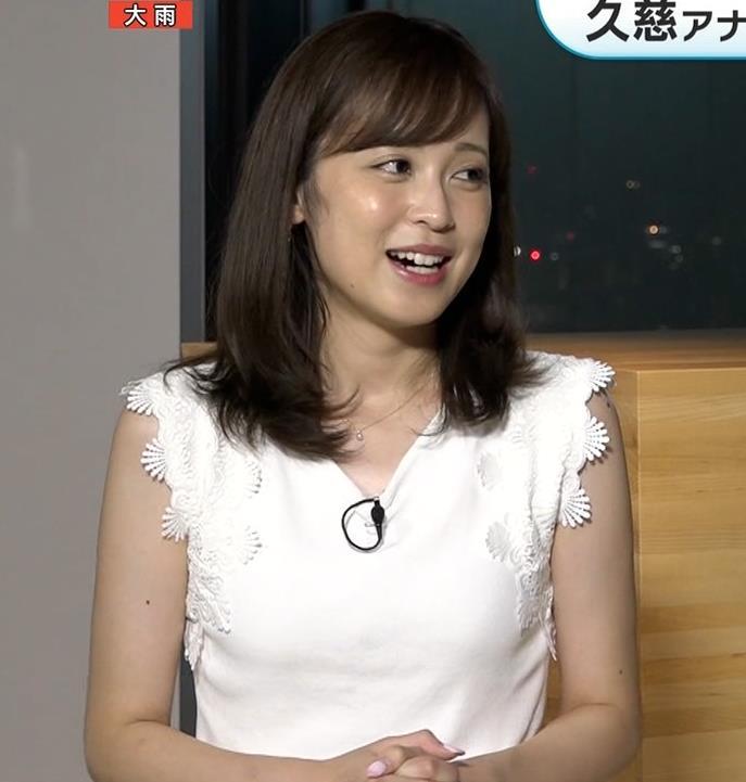 久慈暁子アナ 横乳キャプ・エロ画像2