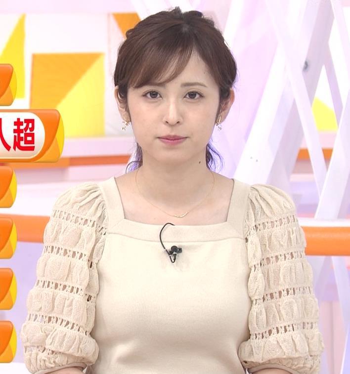久慈暁子アナ 横乳キャプ・エロ画像8