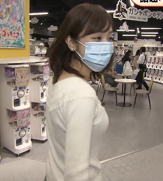 久慈暁子アナ 大きくないけどエロいニット横乳キャプ・エロ画像2
