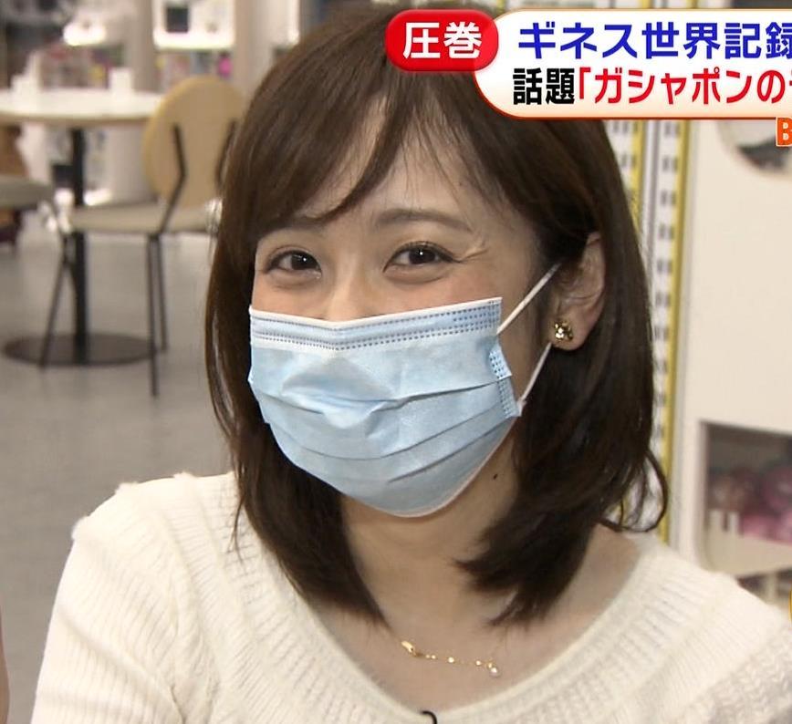 久慈暁子アナ 大きくないけどエロいニット横乳キャプ・エロ画像14