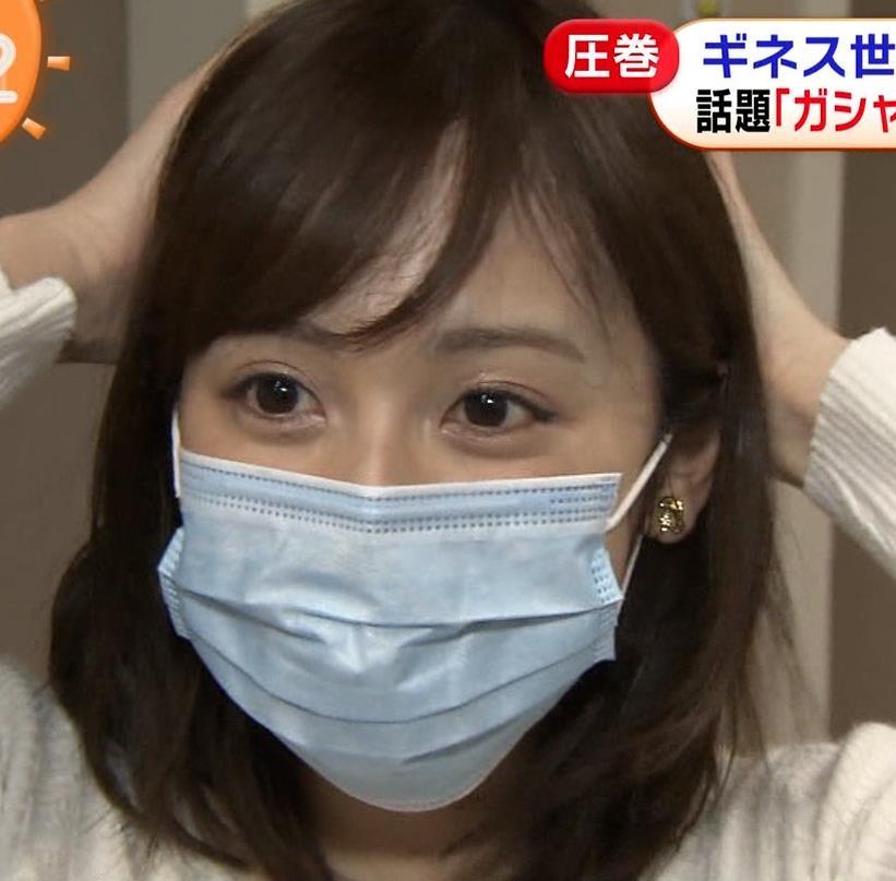 久慈暁子アナ 大きくないけどエロいニット横乳キャプ・エロ画像16