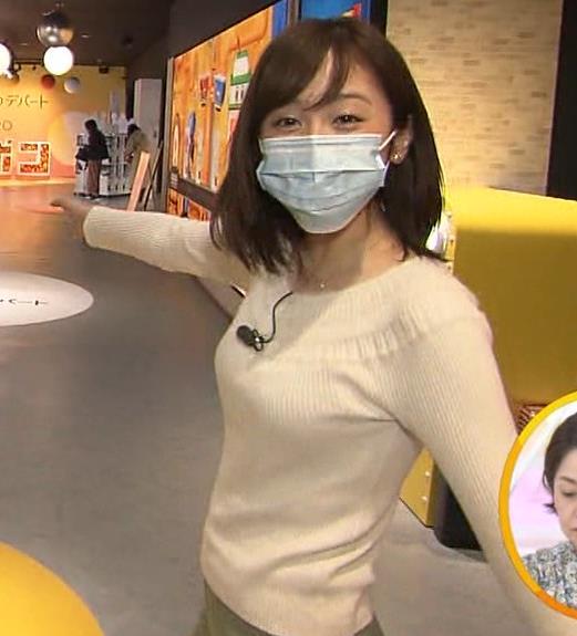 久慈暁子アナ 大きくないけどエロいニット横乳キャプ・エロ画像5