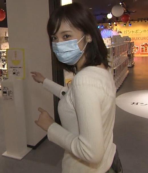 久慈暁子アナ 大きくないけどエロいニット横乳キャプ・エロ画像6
