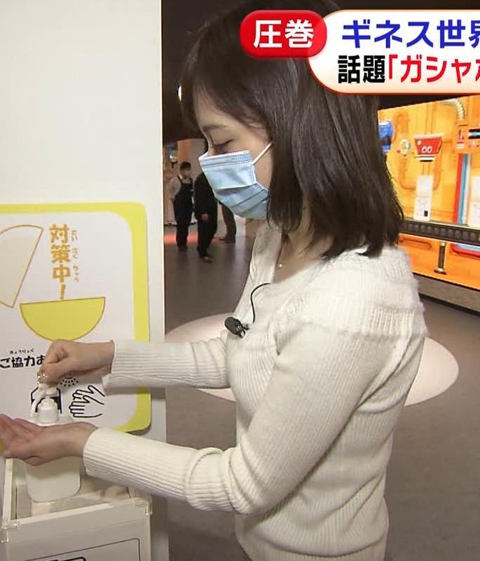 久慈暁子アナ 大きくないけどエロいニット横乳キャプ・エロ画像7
