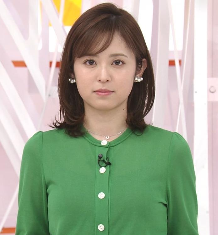 久慈暁子アナ 朝から横乳がエロい放送キャプ・エロ画像