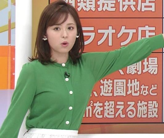 久慈暁子アナ 朝から横乳がエロい放送キャプ・エロ画像2