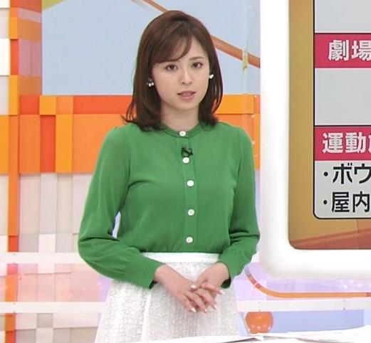 久慈暁子アナ 朝から横乳がエロい放送キャプ・エロ画像3
