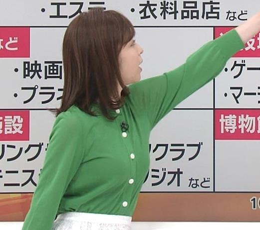 久慈暁子アナ 朝から横乳がエロい放送キャプ・エロ画像4