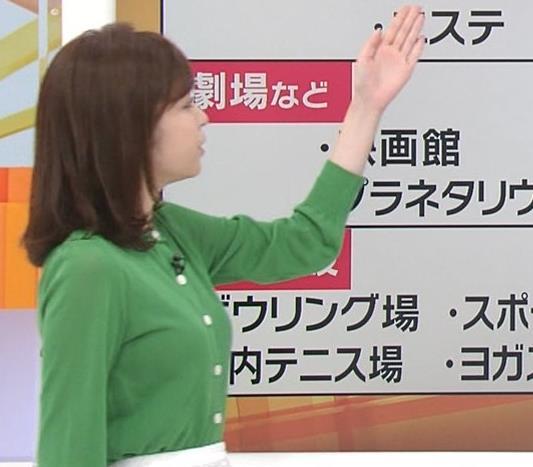 久慈暁子アナ 朝から横乳がエロい放送キャプ・エロ画像5
