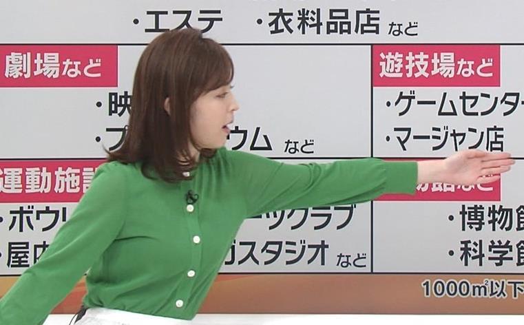 久慈暁子アナ 朝から横乳がエロい放送キャプ・エロ画像6