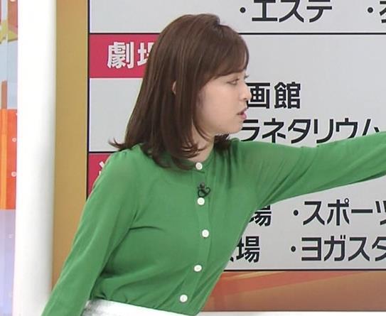 久慈暁子アナ 朝から横乳がエロい放送キャプ・エロ画像7